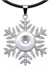 Load image into Gallery viewer, Glitter Snowflake 18/20mm Necklace