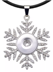 Glitter Snowflake 18/20mm Necklace