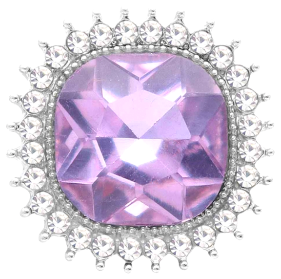 18/20mm Light Purple Bling Snap
