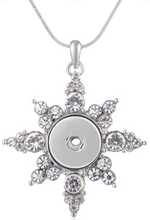 Load image into Gallery viewer, 18/20mm Elegant Crystal Bling Snowflake/Starburst Necklace