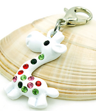 Load image into Gallery viewer, Crystal Giraffe Dangle Clip