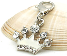 Load image into Gallery viewer, Crystal Crown Dangle Clip
