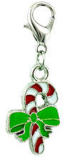Load image into Gallery viewer, Candy Cane Dangle Clip