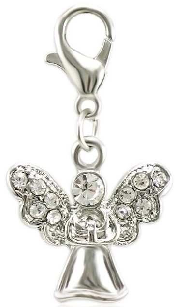 Crystal Angel Dangle Clip