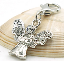 Load image into Gallery viewer, Crystal Angel Dangle Clip