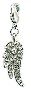 Crystal Angel Wing Dangle Clip