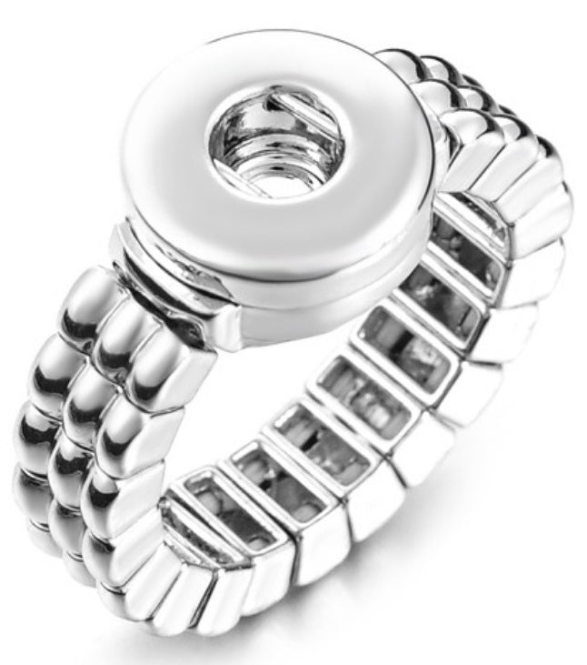 12mm Silver Stretch Ring Base