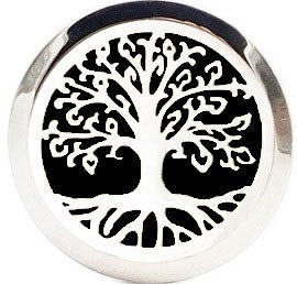 18/20mm Silver Family Tree Diffuser Snap