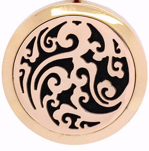 18/20mm Rose Gold Swirls Diffuser Snap