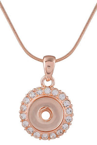 12mm Elegant Crystal Rose Gold Necklace