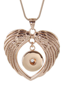18/20mm Rose Gold Double Wing Necklace
