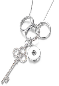 Crystal Key 18/20mm Necklace