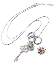 Load image into Gallery viewer, Crystal Key 18/20mm Necklace