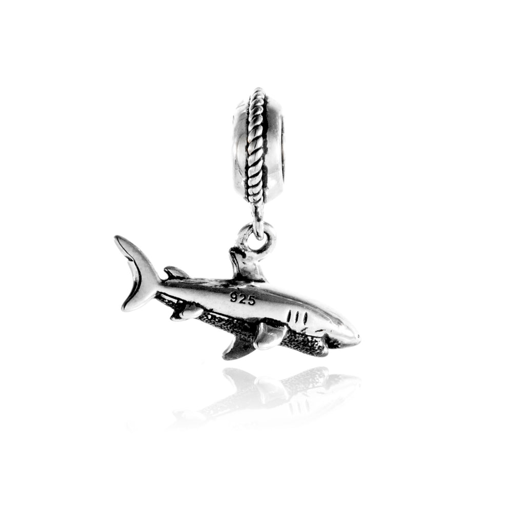 The Shark Hanging Charm in Sterling Silver