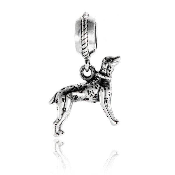 The Spotty Dog Dalmatian Vintage Hanging Charm in Sterling Silver