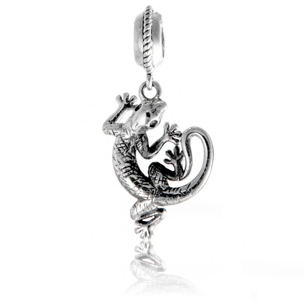 Vintage Animal Gacko Hanging Charm in Sterling Silver