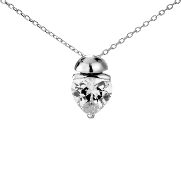 Virtual Strawberry Crystal Necklace in Sterling Silver