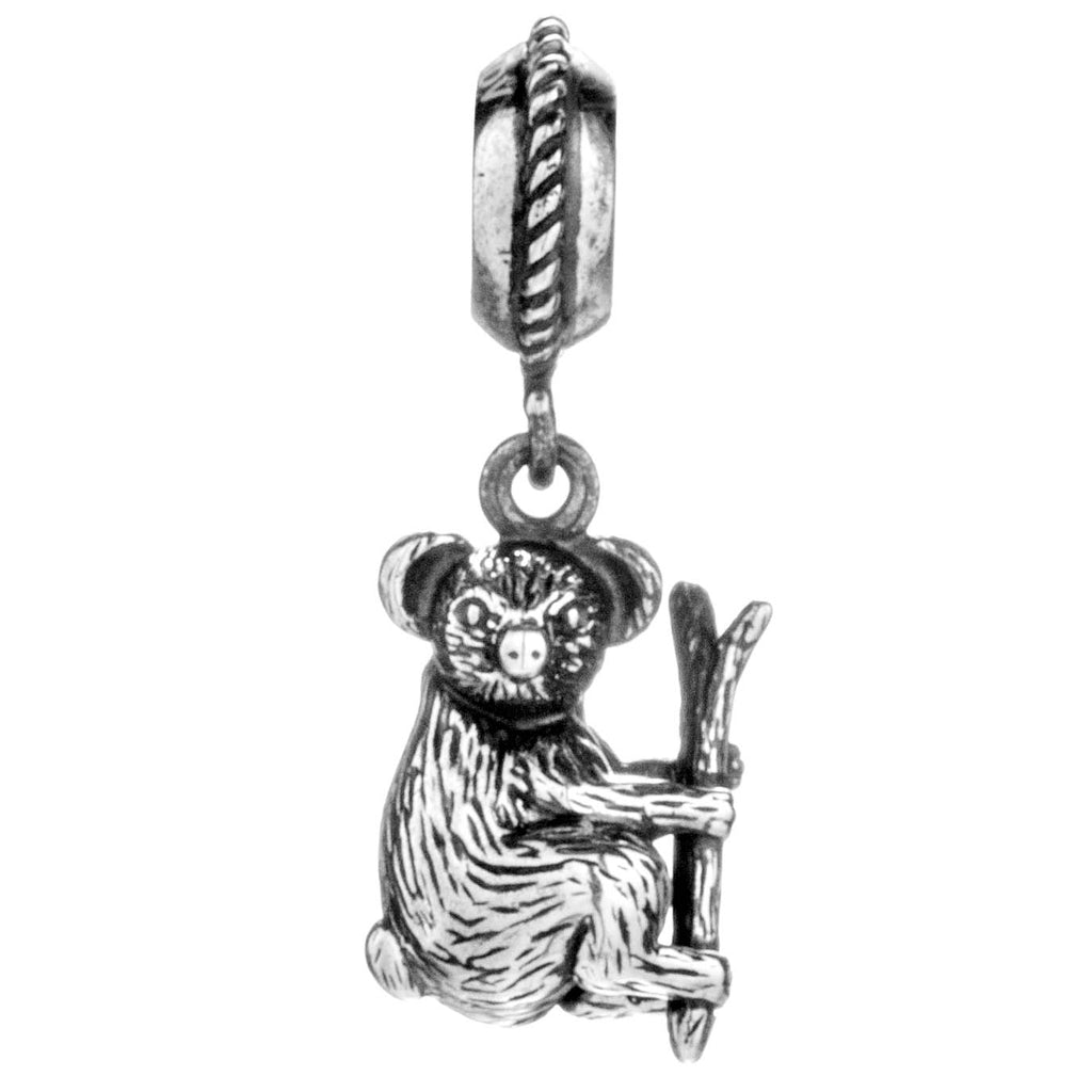 Australian Animal Koala Hanging Charm in Sterling Silver