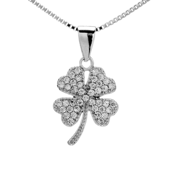 Rare Lively Clover Pendant Necklace in Sterling Silver