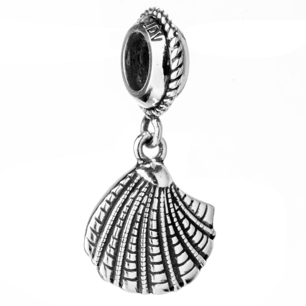 Pearl Shell Hanging Charm in Sterling Silver
