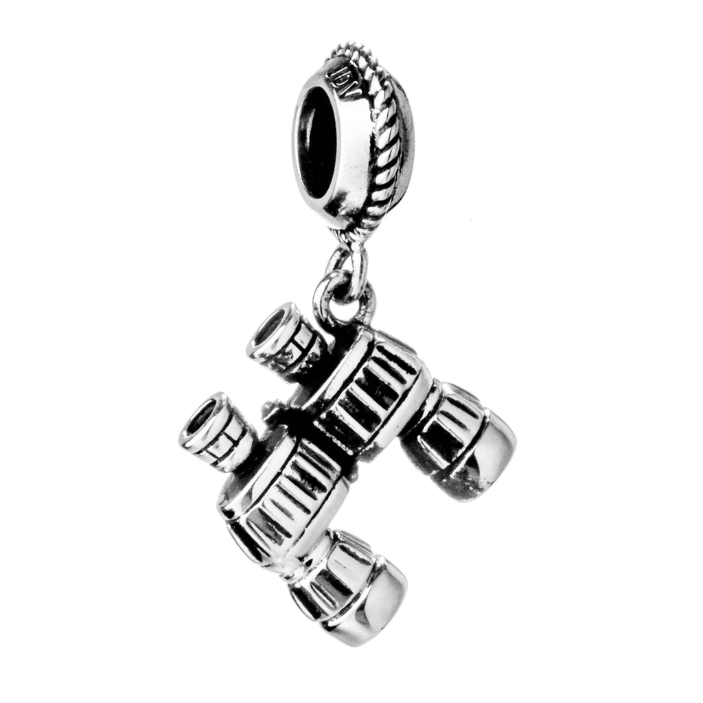 Vintage Telescope Hanging Charm in Sterling Silver