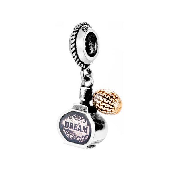 Perfume Bottle Dream Hanging Charm in Sterling Silver