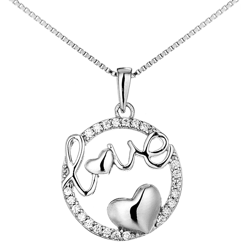 Circle of Love Pendant Necklace in Sterling Silver