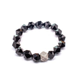 Unique Irregular Shaped Onyx Natural Stone Bracelet