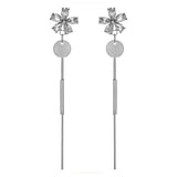 Flower Pure Love Drop Earrings in Sterling Silver