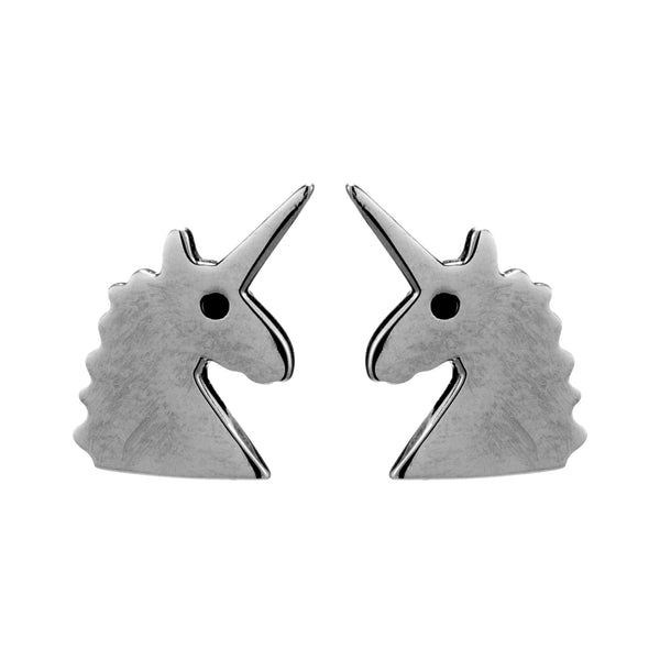 Adorable Unicorn Kids Children Stud Earrings in Sterling Silver