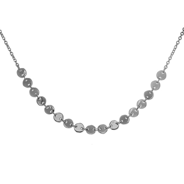 Beads Cluster Chain Necklace in Sterling Silver