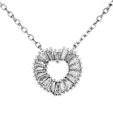 Sparkling Love Heart Necklace with Clear CRYSTAL in Sterling Silver