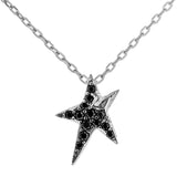 Claasical Clear Crysal Star in Sterling Silver