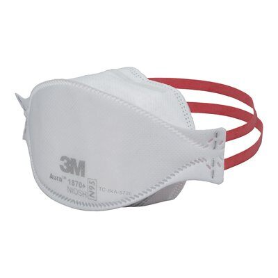 N95 Healthcare Respirator *NIOSH/CDC Approved* 3M 1870+ (Universal) - Individual Pieces