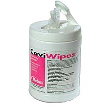 CaviWipe Surface Disinfectant Wipes by Metrex - Canister (160 Wipes)