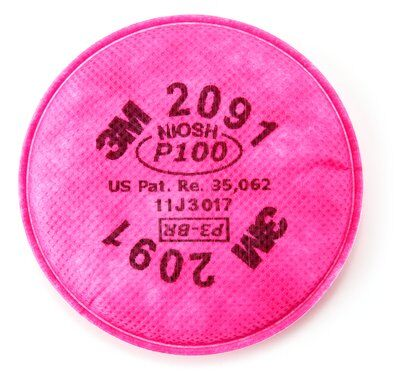 3M Particulate Filter *NIOSH APPROVED* 2091/07000(AAD), P100 - Pack of 2