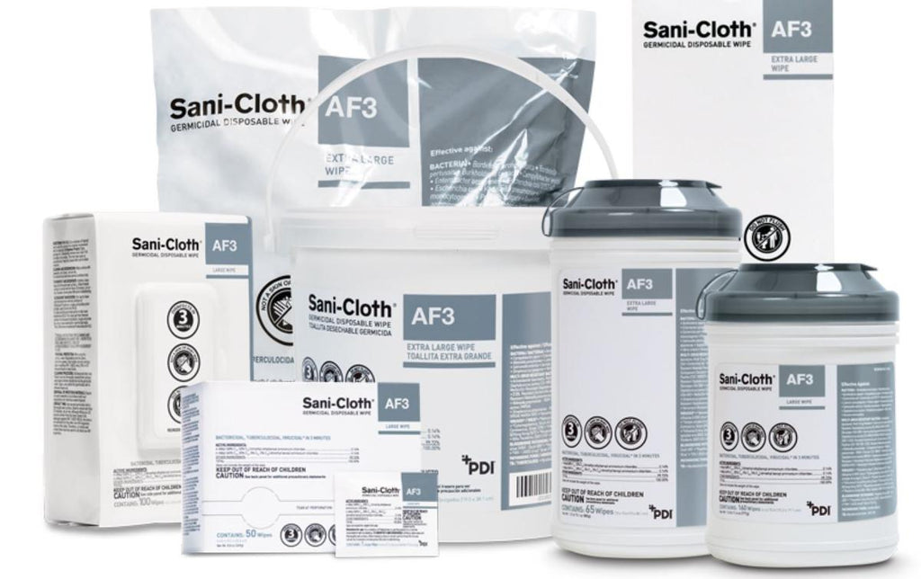 PDI Sani-Cloth AF3 (Alcohol-Free) - Surface Disinfectant Germicidal Wipes - 160 ct Canister