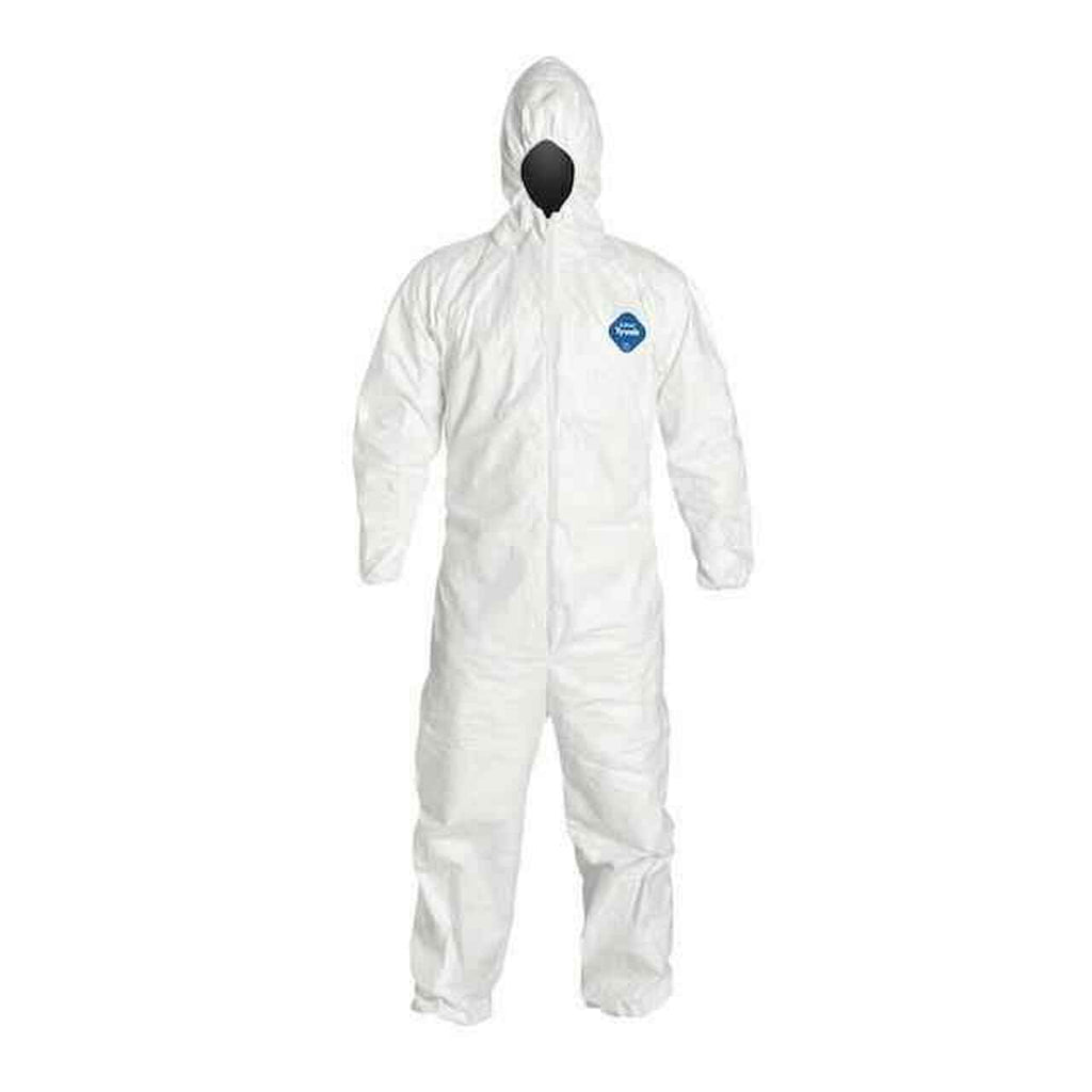Tyvek Zip Coverall - With Hood - No Boot - 25 pcs.