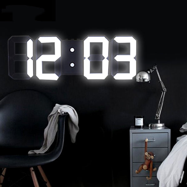 Anpro 3D Large LED Digital Wall Clock Date Time Celsius