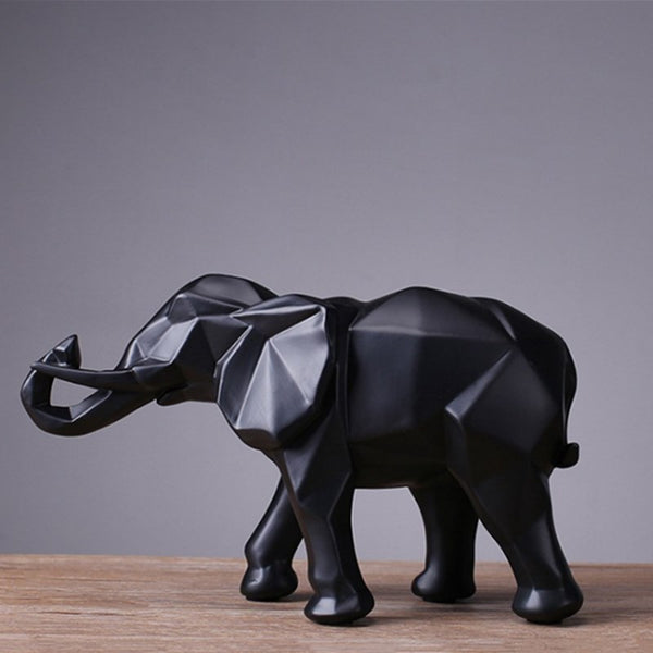 Abstract Gold Elephant Statue Resin