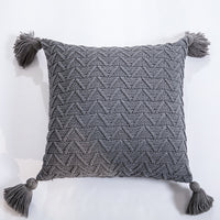 Soft Knit Cuhion Solid Pillow