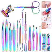 8 Style Colorful Cuticle Nail Pusher