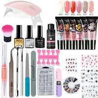 Poly Extension Nail Set With 6W UV LED USB Lamp Dryer Kit Tools Polygel Kit For Manicure Nail Art Sets Nail Polish Gel