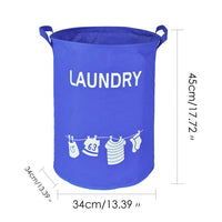 Canvas Waterproof Laundry Organizer Basket Large Capacity Laundry Hamper