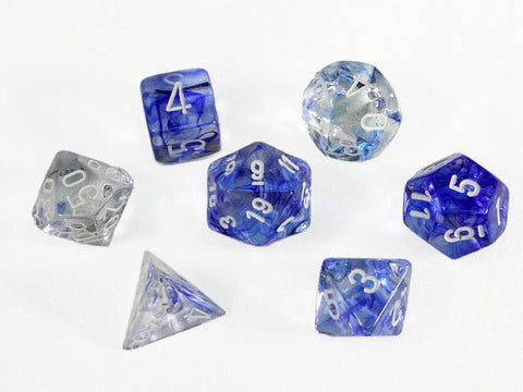 Chessex: Nebula Dark Blue/White Poly 7-Die Set