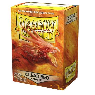 Dragon Shield Matte Clear Red Semitransparent Sleeves 100ct