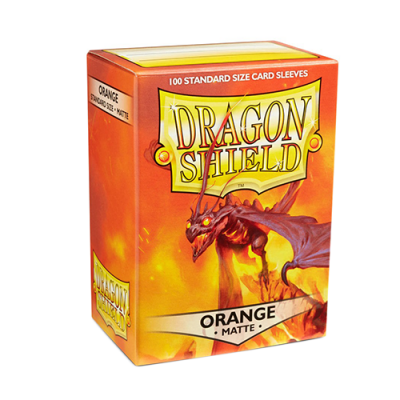 Dragon Shield Matte Orange Sleeves 100CT