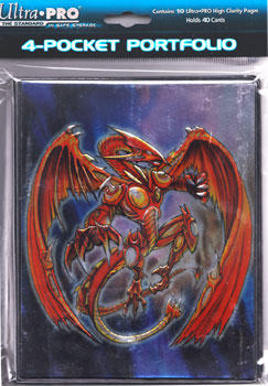 Ultra PRO 4 Pocket Binder Embossed Spiral Dragon