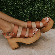 Fashion Platform Buckle Open Toe Sandals