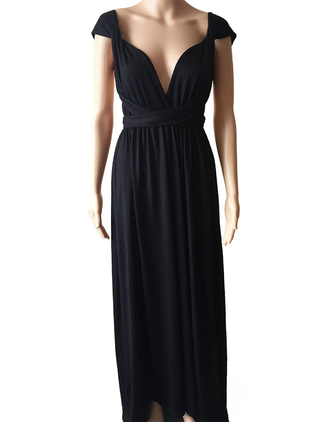 Halter  Polyester Maxi Dress